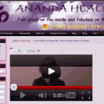 Ananda Healing Site Preview www.ananda-healing.co.uk
